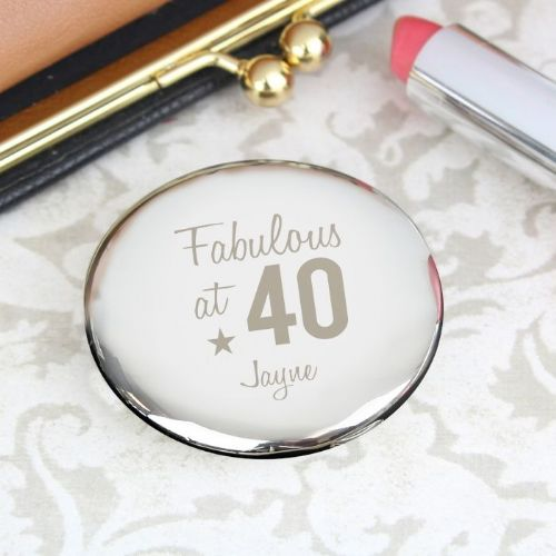 Fabulous Birthday Big Age Compact Mirror
